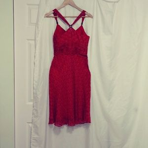 Morrell maxie red and black SLEEVELESS DRESS size